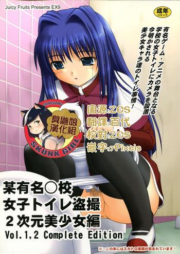 bou yuumei koukou joshi toilet tousatsu 2 jigen bishoujo hen vol 1 2 complete edition cover